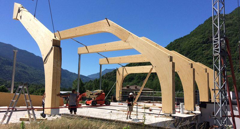 La nuova sede di Cotonella in fase di costruzione.