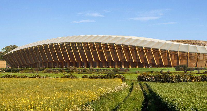 Zaha Hadid Architects, Eco Park Stadium, Stroud (UK), 2016